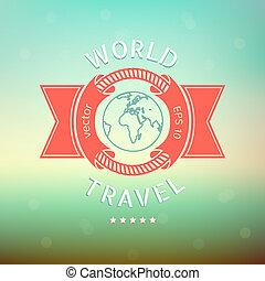 utazás, világ