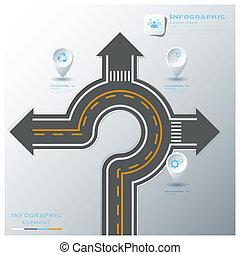 utca, ügy, &, aláír, infographic, forgalom, sablon, tervezés, út