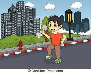 utca, gyermekek játék
