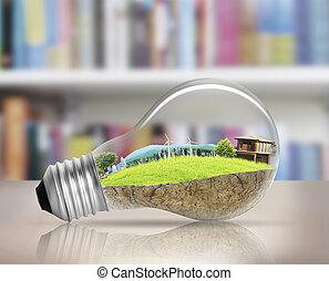 választás, gumó, fény, fogalom, energia