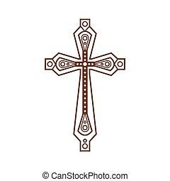 választékos, keresztény, kereszt, ikon