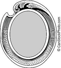 választékos keret, vektor, lenget