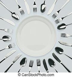 várakozás, vacsora