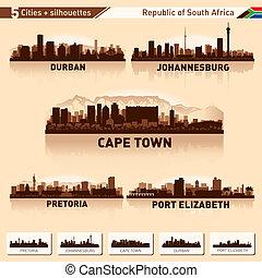 város égvonal, állhatatos, afrika, déli