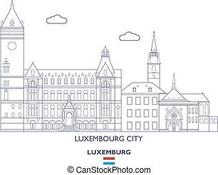 város égvonal, luxemburg