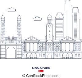 város égvonal, szingapúr