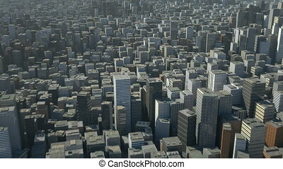 város, felett, menekülés, 3