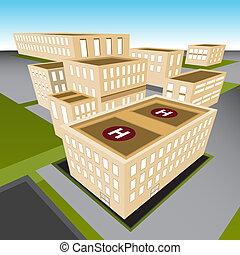 város, kórház