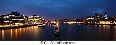 város, london, panoráma