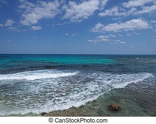 város, mexikó, tengerpart, cancun, isla, köves, mujeres