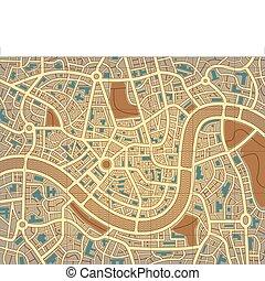 város, névtelen, térkép