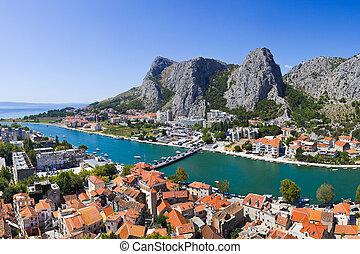 város, omis, horvátország