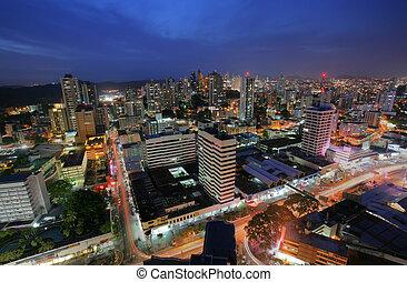 város, panama, félhomály