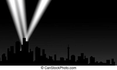 város, reflektorfény