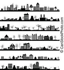 város, táj