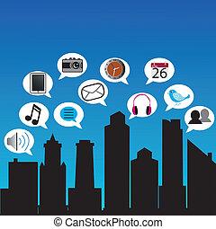város, társadalmi