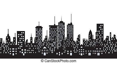 városi, épület város