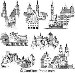 városi, középkori, scenics