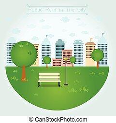 városi park, közönség