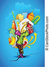 városi, pasas, grafitti, friss