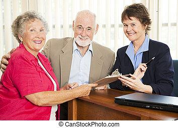 vásár személy, párosít, idősebb ember