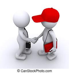 vásárló, üzletember, 3, reszkető kezezés