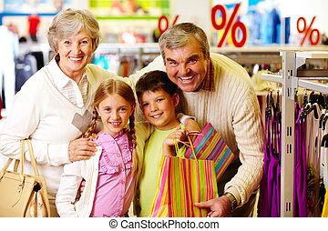 vásárlók, boldog