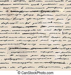 vázlat, kéz, text., írott