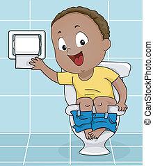 vécépapír, elérő, fiú