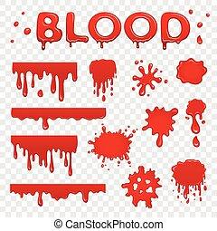 vér, gyűjtés, locsogás