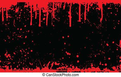 vér, háttér, locsogás