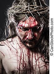 vérzés, kálváriadomb, jézus, ábrázolás, indulat, ember