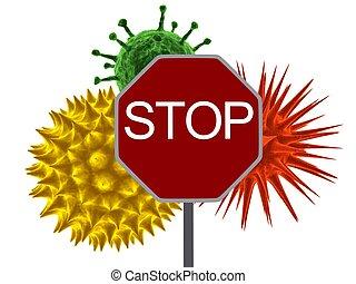 vírus, abbahagy