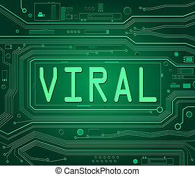 vírusos, concept.