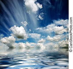 víz, ég, gáncsolt, viharos, lenget
