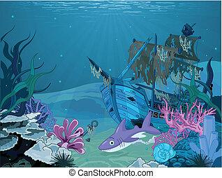 víz alatti, táj