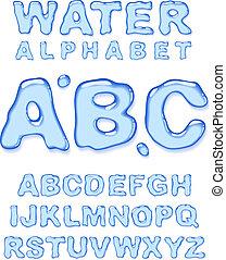 víz, alphabet.