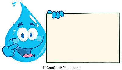 víz, birtok, csepp, transzparens