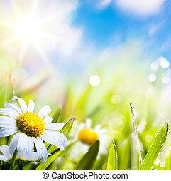 víz, elvont, ég, háttér, művészet, nyár, fű nap, virág, savanyúcukorka
