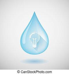 víz, fény, csepp, gumó