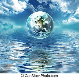 víz, földdel feltölt, felül