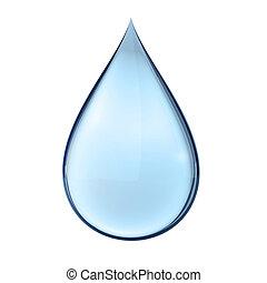 víz, fehér, csepp, 3