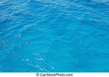 víz, fodrozott, tenger, kék
