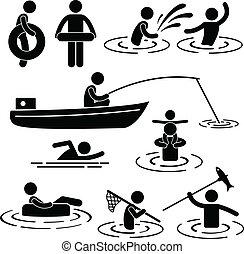 víz, folyó, játék