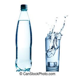 víz, friss, loccsanás, háttér
