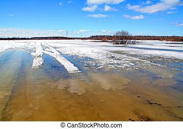víz, hó, alatt