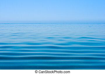 víz, halk sima, tenger, felszín