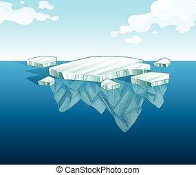víz, jéghegy, híg