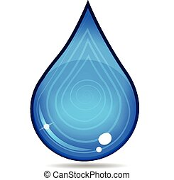 víz, jel, csepp, vektor