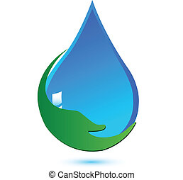 víz, jel, oltalmaz, fogalom, kéz